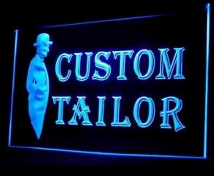 Custom Tailor Made Shirts Suits LED Neon Sign