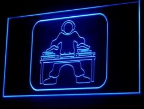 DJ Disc Jockey LED Neon Sign