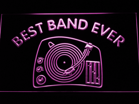 DJ Turntable Best Band Ever LED Neon Sign