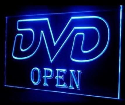 DVD OPEN LED Neon Sign