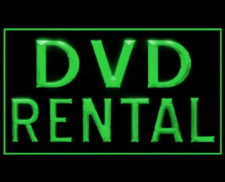 DVD Rental LED Neon Sign