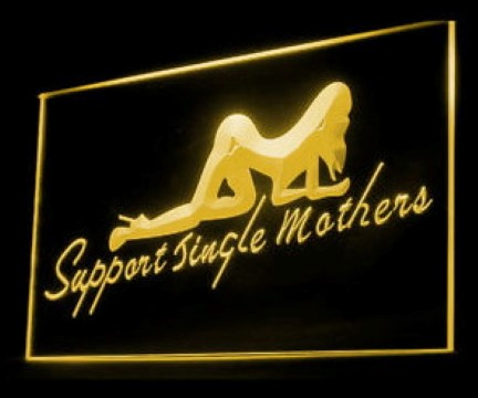 Dancing Woman Support Mothers LED Neon Sign