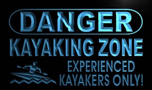 Danger Kayaking Zone Neon Light Sign