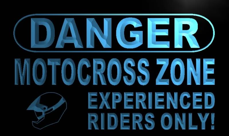 Danger Motocross Zone Neon Light Sign
