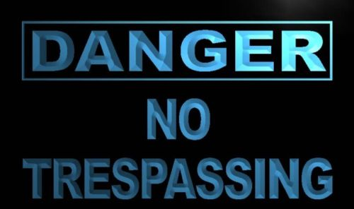 Danger No Trespassing Neon Light Sign