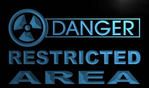 Danger Restricted Area Neon Light Sign