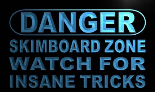 Danger Skim board Zone Neon Light Sign
