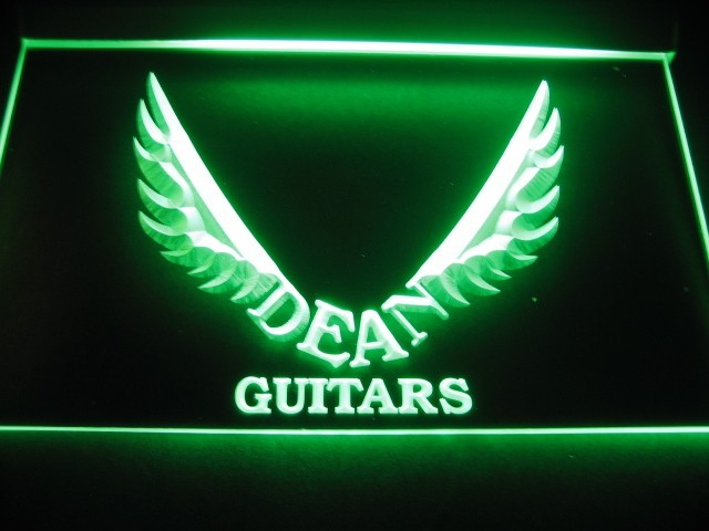 Dean Guitars Wing Logo Beer Bar Pub Store LED Light Sign