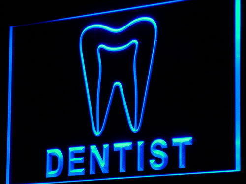 Dentist Tooth Hospital Display Neon Light Sign