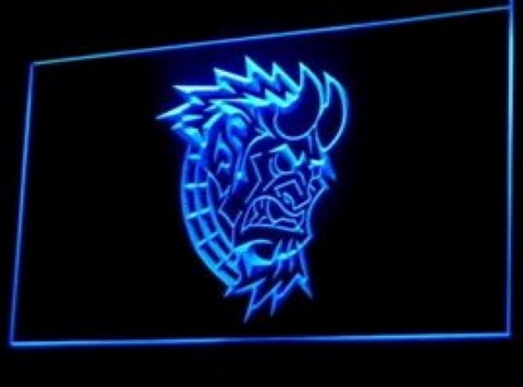 Devil Head Monster Tattoo Design LED Neon Sign