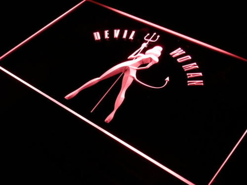 Devil Woman Sexy Bar Beer Decor Neon Light Sign