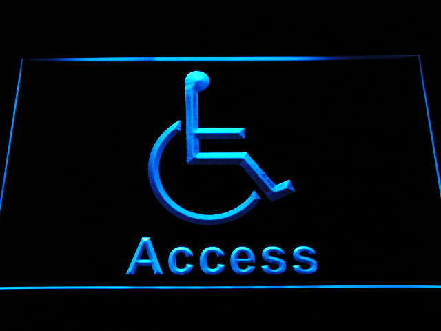 Disabled Handicap Wheelchair Accessible Toilet Display Neon Ligh