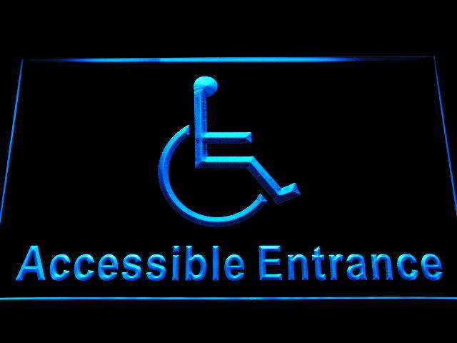 Disabled Handicap Wheelchair Accessible Entrance