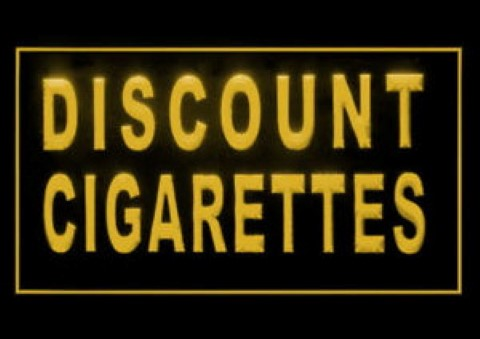 Discount Cigarettes Smoking Tobacco Shop LED Neon Sign