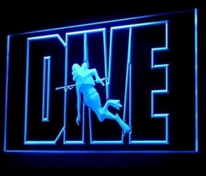 Dive Scuba diving Ocean Explorers LED Neon Sign