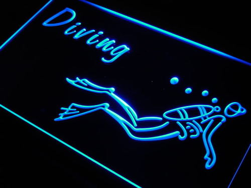 Diving Dive Neon Light Sign
