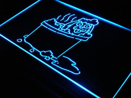Dog Grooming Puppies Shop Neon Light Sign