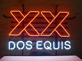 Dos Equis Logo Bar Classic Neon Light Sign 17 x 14