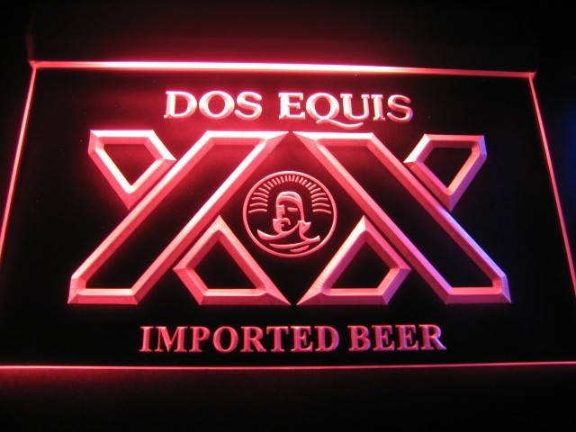 Dos Equis XX Imported Beer Logo Bar Pub Store Light Sign