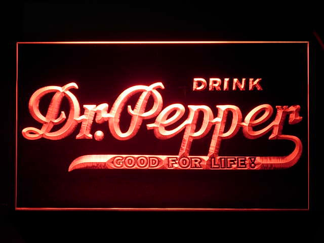 Dr Pepper GOOD FOR LIFE Neon Light Sign