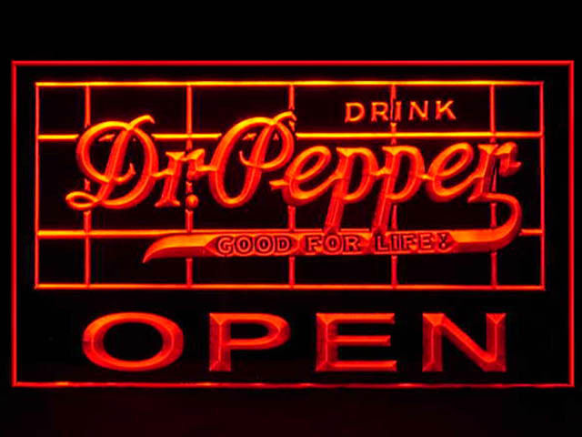 Dr Pepper OPEN Neon Light Sign