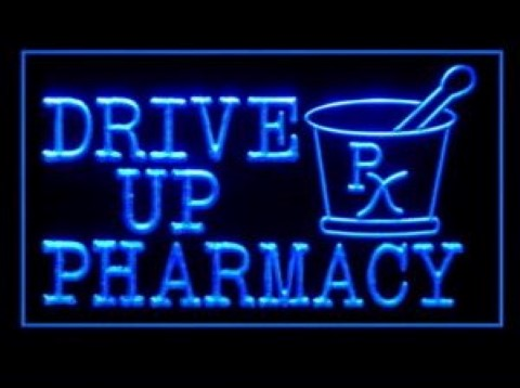 Drive Up Pharmacy LED Neon Sign
