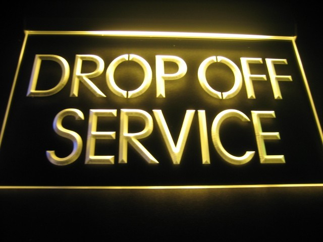 Drop Off Service Logo LED Light Sign