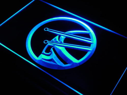 Drum Game Room Music Rock Band Neon Light Sign