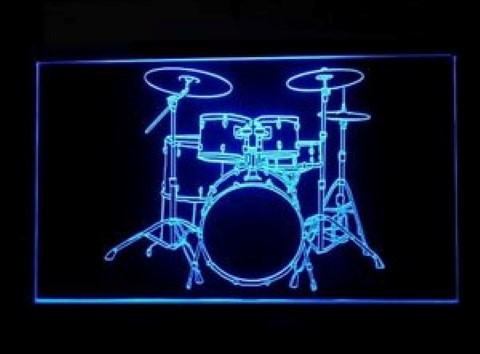 Drum Lessons LED Neon Sign