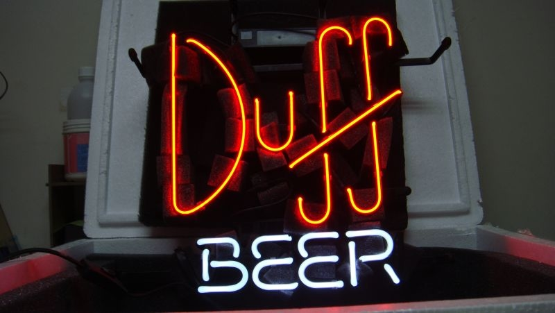 Duff Beer Bar Logo Classic Neon Light Sign 16 x 12