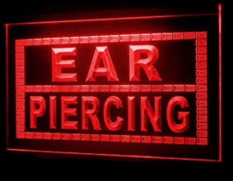 Ear Piercing Body Tattoo LED Neon Sign