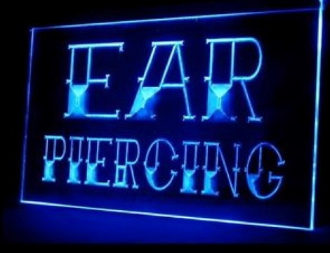 Ear Piercing Tattoo Shop LED Neon Sign