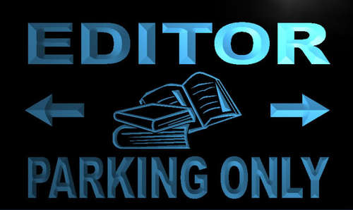 Editor Parking Only Neon Light Sign