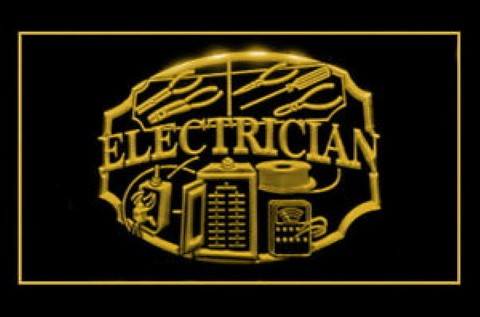 Electrician Shop Repair LED Neon Sign