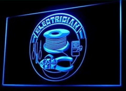 Electrician Tools LED Neon Sign