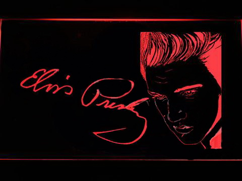 Elvis Presley Signature LED Neon Sign