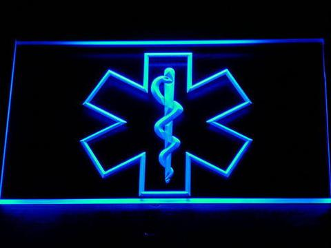 Emergency Medical Services Star of Life LED Neon Sign
