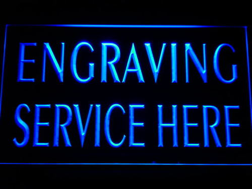 Engraving Service Here Shop Neon Light Sign
