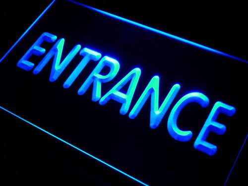 Entrance Display Neon Light Sign