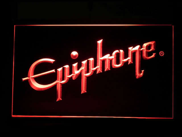 Epiphone Electronic Guitar Display Led Light Sign