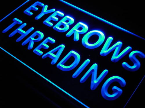 Eyebrows Threading Beauty Salon Neon Light Sign