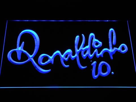 FC Barcelona Ronaldinho Signature LED Neon Sign