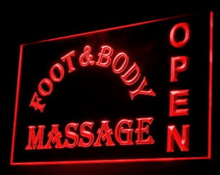 FOOT & BODY MASSAGE OPEN LED Neon Sign