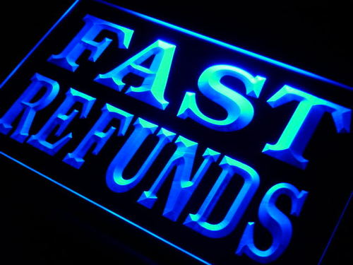 Fast Refunds Tax Services Neon Light Sign