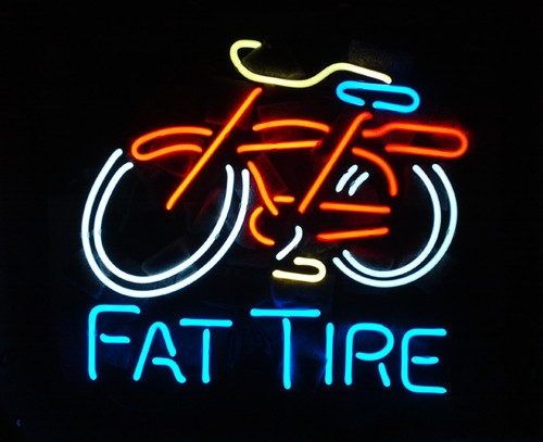 Fat Tire Bicycle Beer Bar Classic Neon Light Sign 16 x 14