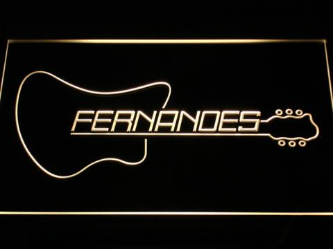 Fernandes Guitar 2 LED Neon Sign