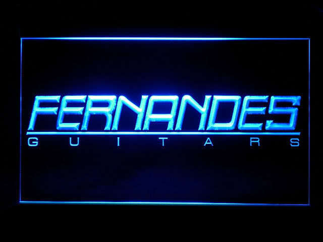 Fernandes Guitar Logo Display Led Light Sign