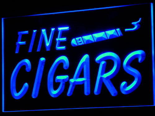 Fine Cigars Shop LED Light Sign
