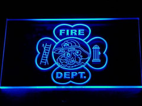 Fire Department Fighting Irish Face LED Neon Sign