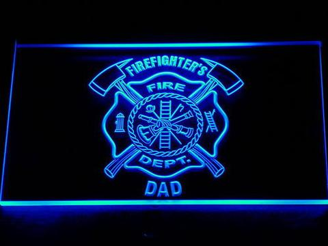 Fire Department Firefighter's Dad LED Neon Sign